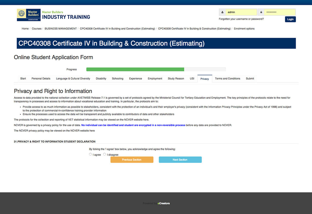 master-builders eLearning Course