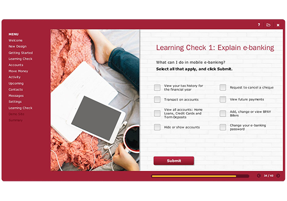 Bendigo-Bank eLearning course