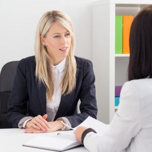 32568780 - young woman in job interview