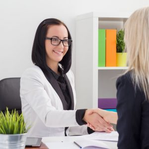 Two Women in Business Meeting