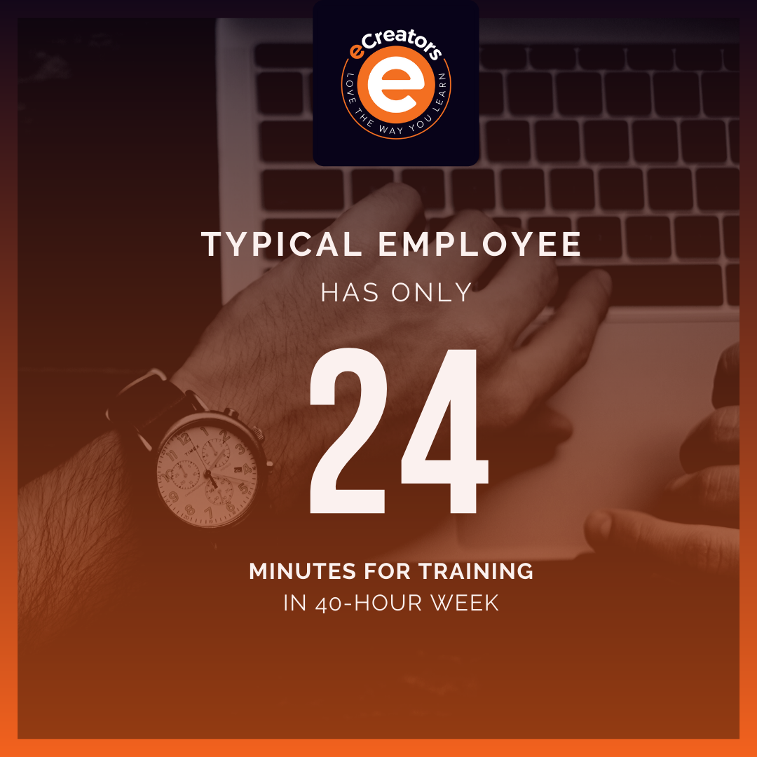 employee only has 24 minutes for training a week
