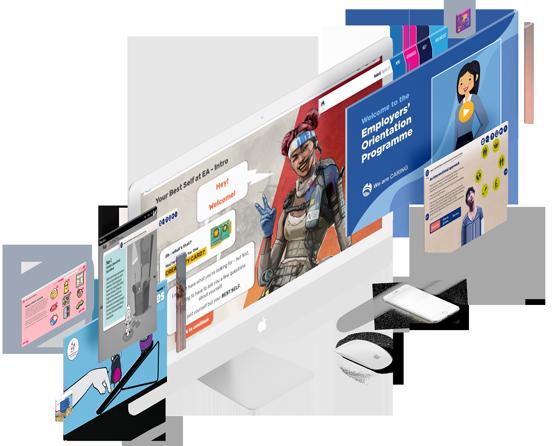 eCreators Content Mockup