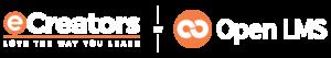eCreators x OpenLMS White Logo
